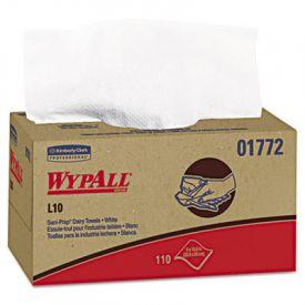 WypAll* L10 SANI-PREP* Dairy Towels, 10 1/2 x 10 1/4, White