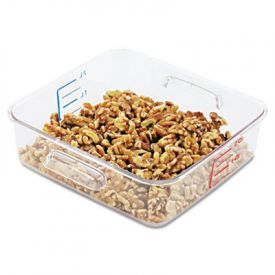 Rubbermaid® Commercial SpaceSaver Containers, 8 4/5w x 8 3/4d x 2 7/10h