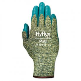AnsellPro HyFlex Kevlar® Work Gloves, Blue/Green, Size 8