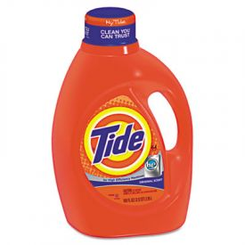 Tide® HE Laundry Detergent, Original Scent, Liquid, 100 oz Bottle