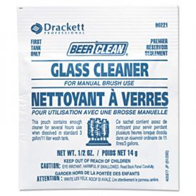 Diversey™ Beer Clean Glass Cleaner, Unscented,  1/2 oz. Packet