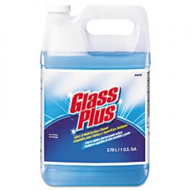 Glass Plus® Glass Cleaner, Floral Scent, Liquid, 1 gal. Bottle