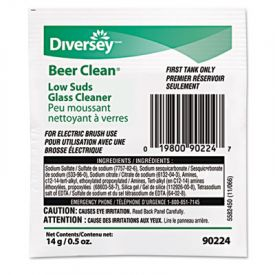 Diversey™Low Suds Beer Clean Glass Cleaner, 1/2 oz. Packet
