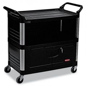 Rubbermaid® Commercial Xtra Equipment Cart, 300lb Cap, 3-Shelf