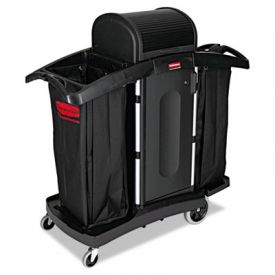Rubbermaid® Commercial High Sec. Housekeeping Cart, 22 x 51 3/4 x 53 1/2
