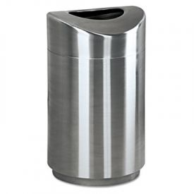 Rubbermaid® Commercial Eclipse Waste Receptacle, Round, Steel, 30 gal