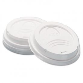 Dixie® Sip-Through Dome Hot Drink Lids, 8oz Cups, White
