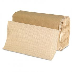 GEN Folded Paper Towels, 9 x 9 9/20, Kraft,