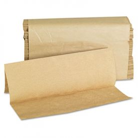 GEN Folded Paper Towels, Multifold, 9 x 9 1/2, Kraft