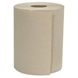 GEN Hardwound Roll Towels, Kraft, 1-Ply, Natural, 8