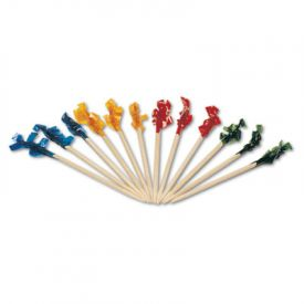 Royal Cellophane-Frill Wood Picks, 2 3/4