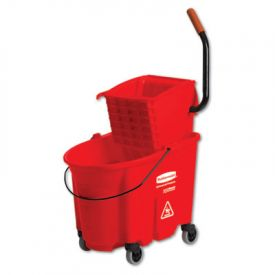 Rubbermaid® Commercial WaveBrake Bucket/Wringer Combos, Red