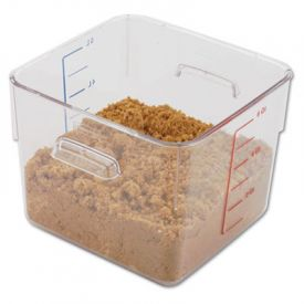 Rubbermaid® Commercial SpaceSaver Square Containers, 6 Quart
