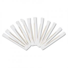 Royal Cello-Wrapped Round Wood Toothpicks, 2 3/4