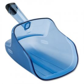 Rubbermaid® Commercial Hand-Guard Scoop, 74oz, Transparent Blue