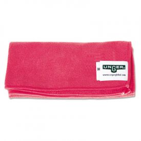 Unger® SmartColor™ MicroWipes, Heavy-Duty, 16 x 15, Red, 10/Case