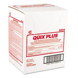 Chix® Quix® Plus Disinfecting Towels, 13 1/2 x 20, Pink