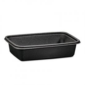 Genpak® Microwave-Safe Containers,32 oz, Plastic, Black