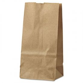 General Grocery Paper Bags, 30-lb, Brown Kraft, 4-5/16x2-7/16x7-7/8