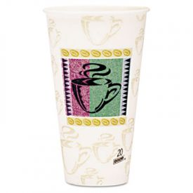 Dixie® PerfecTouch Paper Hot Cups, Paper, 20 oz
