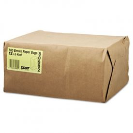General Grocery Paper Bags, 40-lb, Brown Kraft, 7-1/16x4-1/2x13-3/4