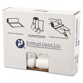 Inteplast Group High-Density Can Liners, 24 x 24, 10-Gallon, 8 Microns