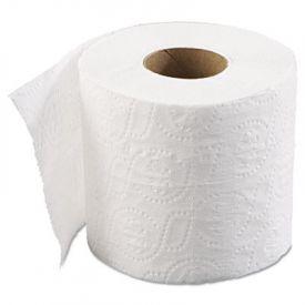 Boardwalk® Embossed Bath Tissue, Standard, 2-Ply, White, 4 x 3 Sheet, 500 Sheets/Roll