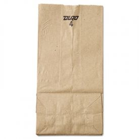 General Grocery Paper Bags, 30-lb, Brown Kraft, 5 x 3.33 x 9-3/4