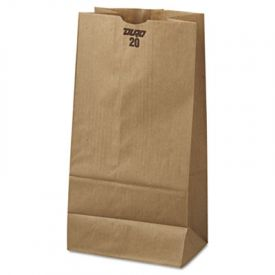 General Grocery Paper Bags, 40-lb, Brown Kraft, 8-1/4x5-5/16x16-1/8