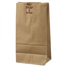 General Grocery Paper Bags, 50-lb, Brown Kraft, 6 x 3-5/8 x 11-1/16
