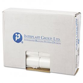 Inteplast Group High-Density Can Liners, Perforated Roll, 7-10 Gal, 24 x 24