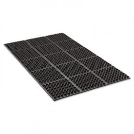 Crown Safewalk Heavy-Duty Anti-Fatigue Drainage Mat, 36 x 60, Black