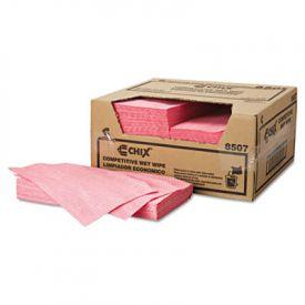 Chix® Wet Wipes, 11 1/2 x 24, White/Pink