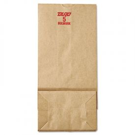 General Grocery Paper Bags, 50-lb, Brown Kraft, 5-1/4 x 3-7/16 x 10-15/16