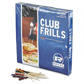 Royal Cellophane-Frill Wood Picks, 4