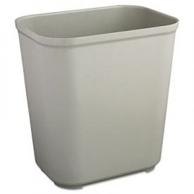 Rubbermaid® Commercial Fire Resistant Wastebasket, Rect, 7 gal, Gray