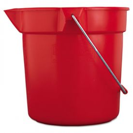 Rubbermaid® Commercial BRUTE Round Utility Pail, 10 1/2dia x 10 1/4h