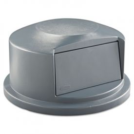 Rubbermaid® Commercial Round Brute Dome Top, 24 13/16 x 12 5/8, Gray