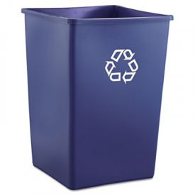 Rubbermaid® Commercial Square Recycling Container, 35 gal, Blue