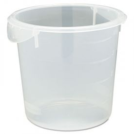 Rubbermaid® Commercial Round Storage Containers, 4qt, 8 1/2dia x 7 3/4h, Clear