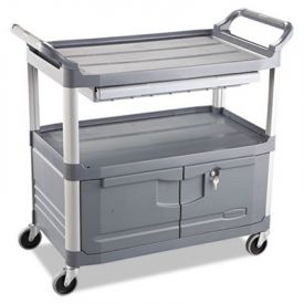 Rubbermaid® Commercial Xtra Instrument Cart, 300-lb Cap., 3 Shelf