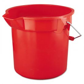 Rubbermaid® Commercial BRUTE Round Utility Pail, Plastic, 12 x 11, Red