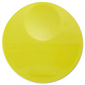 Rubbermaid® Commercial Round Storage Container Lids, 10 1/4dia x 1h, Yellow