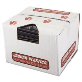 Jaguar Plastics; Repro Low-Density Can Liners, 38w x 58h, Black