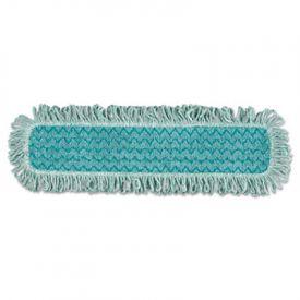 Rubbermaid® HYGEN Microfiber Fringed Dust Mop Pad, 24w x 9d, Green