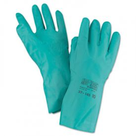 AnsellPro Sol-Vex Sandpatch-Grip Nitrile Gloves, Green, XL