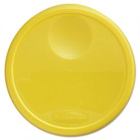 Rubbermaid® Commercial Round Storage Container Lids, 13 1/2dia x 2 3/4h, Yellow