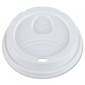Dixie® Drink-Thru Lid, Fits 12 oz. & 16 oz. Paper Hot Cups, White