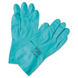AnsellPro Sol-Vex® Sandpatch-Grip Nitrile Gloves, Green, Size 7