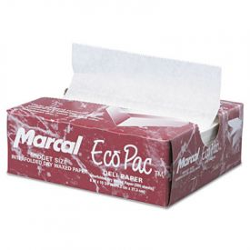 Marcal® Eco-Pac Natural Interfolded Dry Wax Paper, 6 x 10 3/4, White